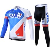 Fdj Maillot De Cyclisme Manches Longues + Cuissard V�lo 2016