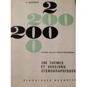 200 Th�mes Et Versions St�nographiques Syst�me Duploy� Codifi� M�tagraphie de deslogis j.