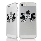 Apple Iphone 5g 5s Coque Housse Etui Gel Silicone Protection Transparent Tpu Case - Mickey Bisous