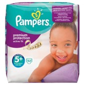 Pampers Active Fit T5+ 13kg-27kg Pack 32 Couches