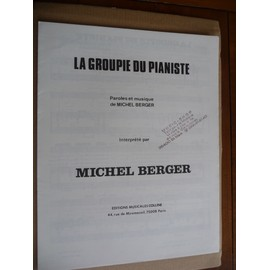 LA GROUPIE DU PIANISTE   Michel Berger