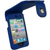 igadgitz �tui Pochette Case de luxe relevable en Cuir PU (polyur�thane), Housse de couleur Bleu pour Apple iPod Touch 4G 4�me Gen g�n�ration 8 go gb 32 go gb & 64 go gb + protecteur d'�cran