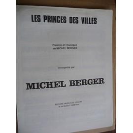 LE PRINCE DES VILLES MICHEL BERGER