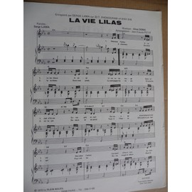 LA VIE LILAS Serge Lama