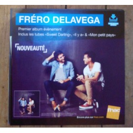 PLV souple 30x30cm FRERO DELAVEGA premier album / magasins FNAC