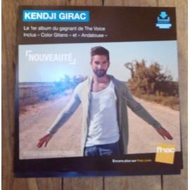 PLV souple 30x30cm KENDJI GIRAC premier album ( écritures bleues ) / magasins FNAC
