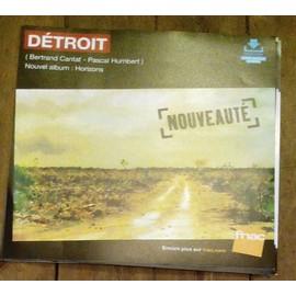 PLV souple 30x30cm DETROIT bertrand cantat HORIZONS / magasins FNAC