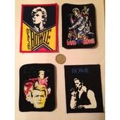 David Bowie 4 �cussons / Patches Originaux Import Uk D�but Ann�es 1990s