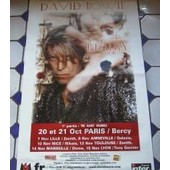 David Bowie - Affiche Reality Tour 2003 Paris Bercy - 80x120 Cm