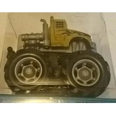 1 Mini Big Wheels/ Monster Truck - Mouvement Par Friction - Jaune
