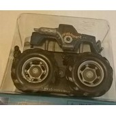 1 Mini Big Wheels/ Monster Truck - Mouvement Par Friction - Bleu
