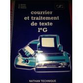 Courrier Et Traitement De Textes 1eg de Barbier - Pelatan - Robinot