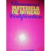 Classement Mat�riels De Bureau Codification de Collectif