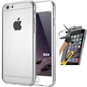 Coque Silicone Gel Vitre Verre Tremp� Iphone 6 Plus / 6s Plus Transparent