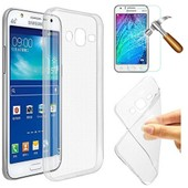 Coque Silicone Gel Vitre Verre Tremp� Galaxy J5 Samsung Transparent