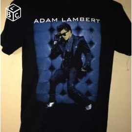 T-Shirt Officiel Adam Lambert Glam Nation Tour 2010