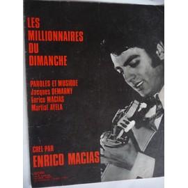 Les Millionnaires du dimanche Enrico Macias