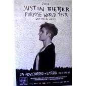 Poster Justin Biber Tourn�e 2016 Portugal 1185x1750cm
