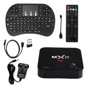 MXIII-G TV Box Quad Core Latest 4K FULLY LOADED Android WiFi+KODI+Keyboard AH092