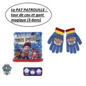 Pat Patrouille - Echarpe Tour De Cou Et Gant Magique Assorti (3-6ans) - Paw Patrol