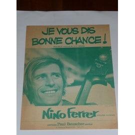 JE VOUS DIS BONNE CHANCE  Nino Ferrer