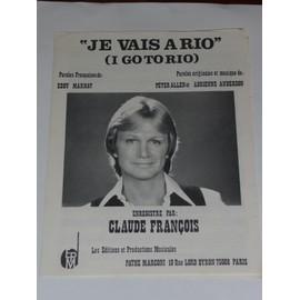 JE VAIS A RIO  Claude François