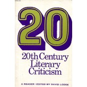 20th Century Literary Criticism, A Reader de david lodge