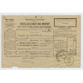 D�claration De D�p�t D'un Objet Exp�di� Contre Remboursement (Dat� Du 08/02/1940)