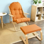 Sobuy Fst28-O Fst31-O Fauteuil Relax D�tente Avec Repose-Pieds, Confortable Pliable Dossier Inclinable En 3 Positions