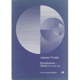 Introduzione e Gloria D-Dur (RV 588) – Partitur pour solistes, choeur et orchestre (/ introduction et Gloria) - conducteur