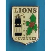 6950 // Pin's : Lions Hautes C�vennes Lampe De Mineur & Ch�taignes