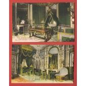2 C.P. Anciennes & Palais De Fontainebleau - Le Cabinet De Travail Et La Chambre � Coucher De Napol�on 1er