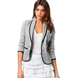 Mode Veste Blazer Veston Mince Slim Printemps Design