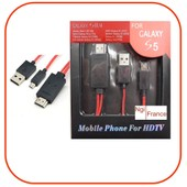 Ngi�-C�ble Adaptateur Mhl Micro Usb Vers Hdmi Tv Pour Samsung Galaxy S5/S4/S3/Note 2