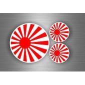 3x Autocollant Sticker Voiture Moto Tuning Jdm Bomb Drapeau Japon Rising Sun