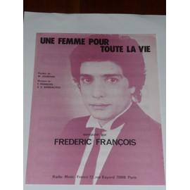 UNE FEMME POUR TOUTE LA VIE frédéric François
