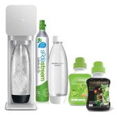 Machine a soda + 2 bouteilles + Concentr�s 375ml Mojito et Limonade - SODASTREAM Mega Pack Play Grise PLAYMEGAG2CONC