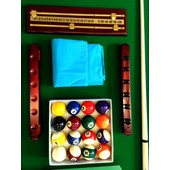 Billard Americain 8 Ft 250 Cm Table De Pool Snooker Meuble Salon Table De Billard Vert