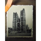 Photo � Bord Dentel� Ann�e 1950.Bruxelles �glise Sainte-Gudule.Dimensions 9x7cm.