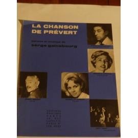 LA CHANSON DE PREVERT Serge Gainsbourg