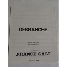 DEBRANCHE France Gall