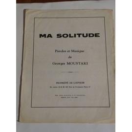 MA SOLITUDE Georges Moustaki