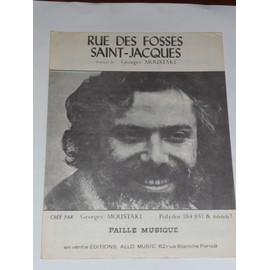 RUE DES FOSSES SAINT-JACQUES Georges Moustaki