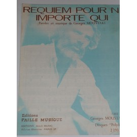 REQUIEM POUR N'IMPORTE QUI Georges Moustaki
