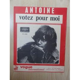 """Partition ancienne Antoine """" Votez pour moi """""""