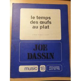 """Partition ancienne de Joe Dassin """" Le temps des oeufs au plat """""""