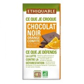 Ethiquable - Chocolat Noir Orange Confite Bio & �quitable 100 G