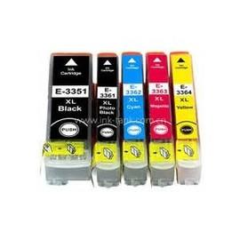 5 Cartouches Encre Epson 33xl - Xp-635 Orange Compatible