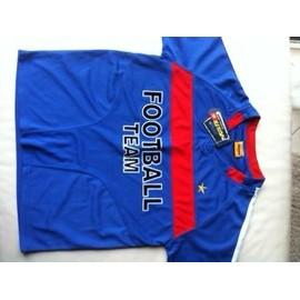 T-Shirt Go Sport Logo Football Bleu Et Rouge Neuf Taille 10 12 Ans