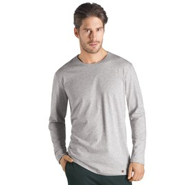 Hanro Night & Day Haut � Manches Longues Homme - Argent� 075431-0939 Small